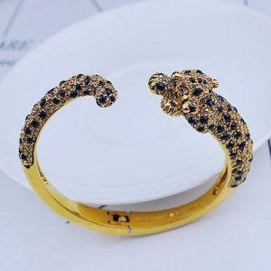 Kate Spade Diamond Vintage Gold Cheetah Bracelet